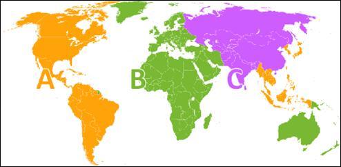 blu-ray disc region code area, region a, b,c
