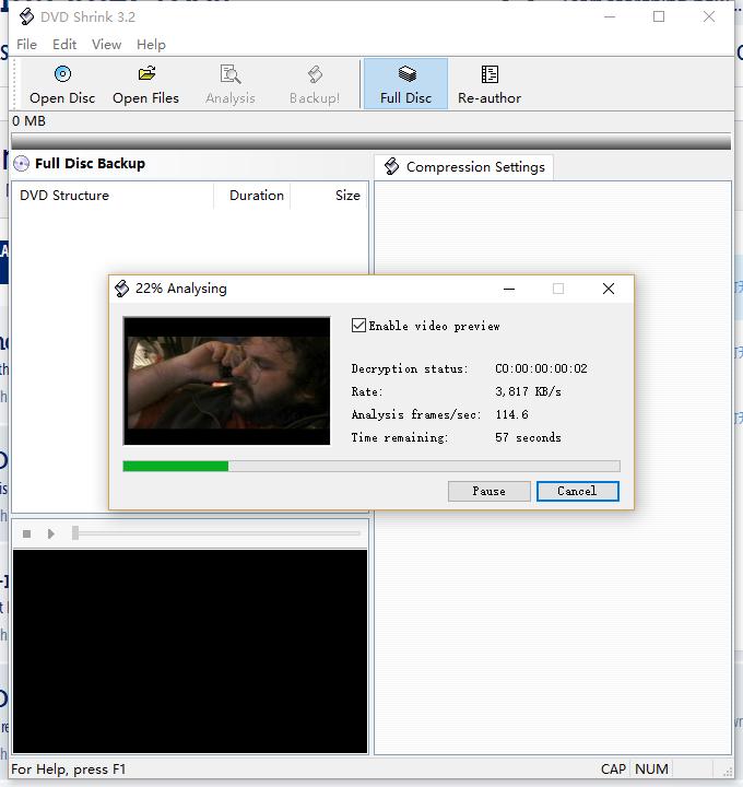 load DVD to DVD Shrink