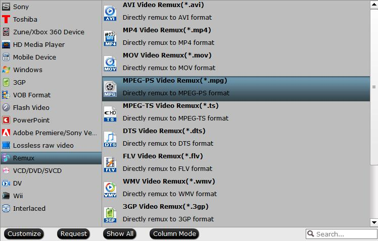 MPEG PS MPG format