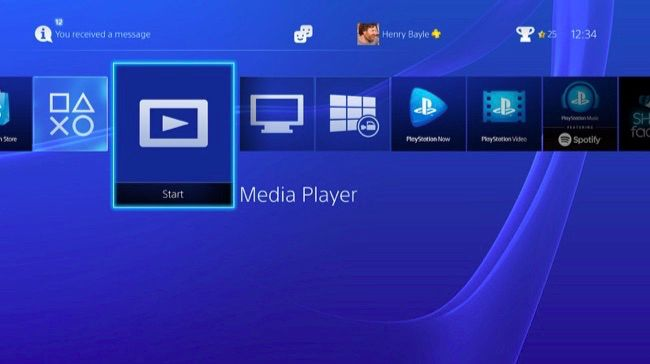 media player on ps4